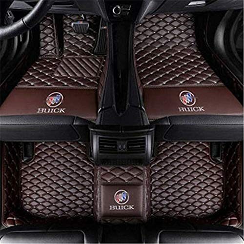 Himent Custom Fit XPE Leather 3D Full Surrounded Waterproof Car Floor Mat Buick 3D Full Surrounded Floor Mats & Car Mats with Logo (Coffee, Buick New Lacrosse (2009-Newest))