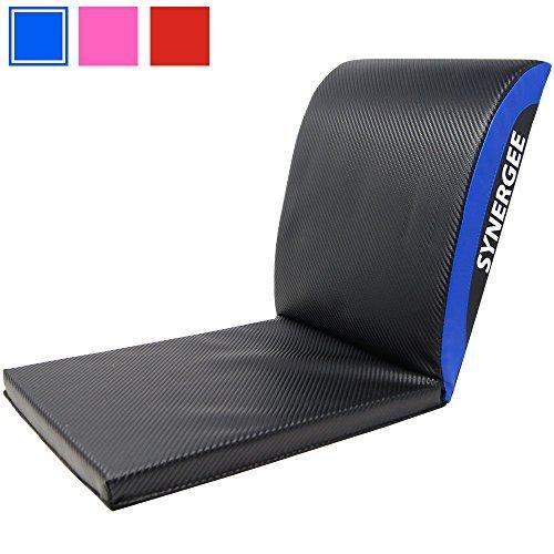 Alfombra azul buff para ejercicios de incorporación alfombra abdominal con almohadilla para el coxis - Alfombra entrenadora...