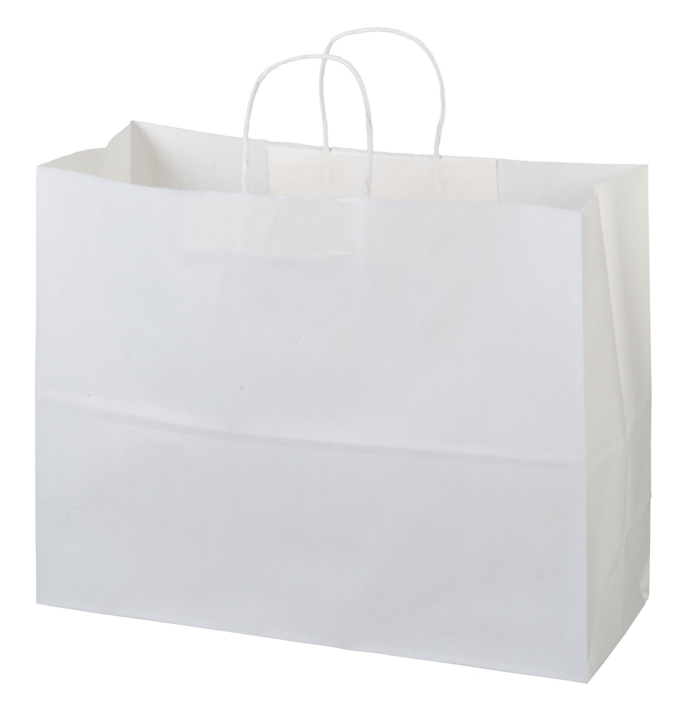 Flexicore Packaging 16''x6''x12'' - 100 Pcs -White Kraft Paper Bags, Shopping, Merchandise, Party, Gift Bags by Flexicore Packaging