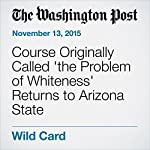 Course Originally Called 'the Problem of Whiteness' Returns to Arizona State | Yanan Wang