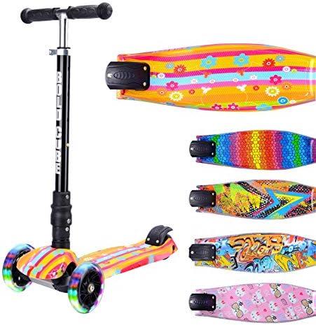 BOLDCUBE Dreirad Roller mit PU LED Räder - ab etwa 5 Jahre - 4 Stufen Einstellbare Höhe - Faltbar - der sichere Premium Kinder Roller - TÜV geprüft Kickboard Tretroller