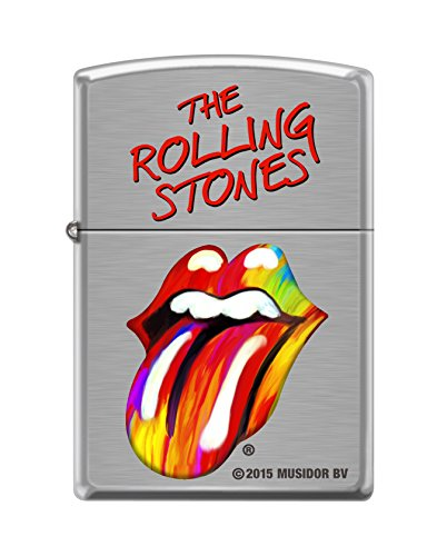 "Zippo ""The Rolling Stones"" Brushed Chrome Finish Lighter, 1243"