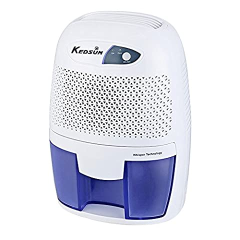 KEDSUM FCC Approved Small Thermo-Electric Dehumidifier, 108 Square Feet for Small Laundry Room, Bedroom,Kitchen,Closet,Basement, Attic, (Dehumidifiers)