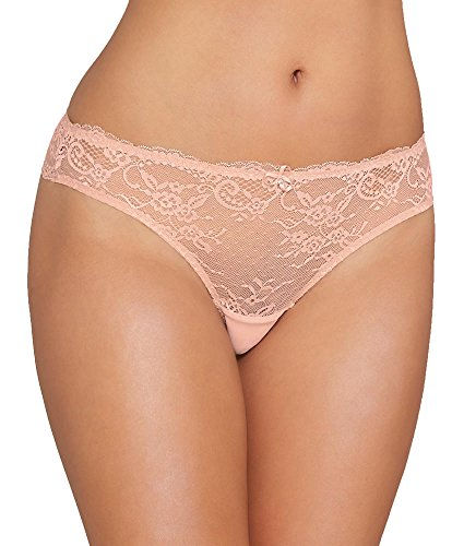 Parfait P5354 Women's Sandrine Cameo Rose Pink Lace Panty Thong