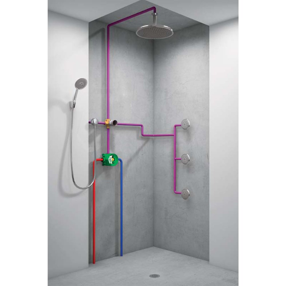 Hansgrohe 15930181 Quattro 3-Way Diverter Valve - Bathtub And Shower ...