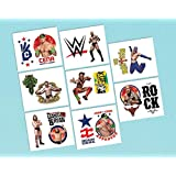 "Amscan Grand Slammin' WWE Temporary Tattoos Birthday Party Favors (16 Pack), 2"" x 1 3/4"", Multicolor"