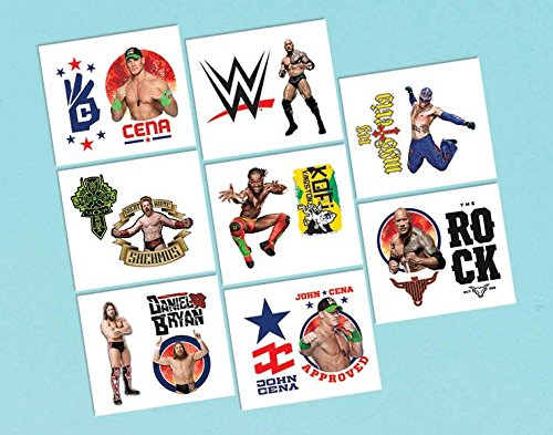 Amscan Grand Slammin' WWE Temporary Tattoos Birthday Party