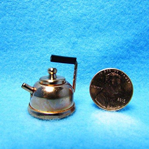 Dollhouse Miniature Copper Tea Pot/Kettle with Lid IM - My Mini Fairy Garden Dollhouse Accessories for Outdoor or House Decor
