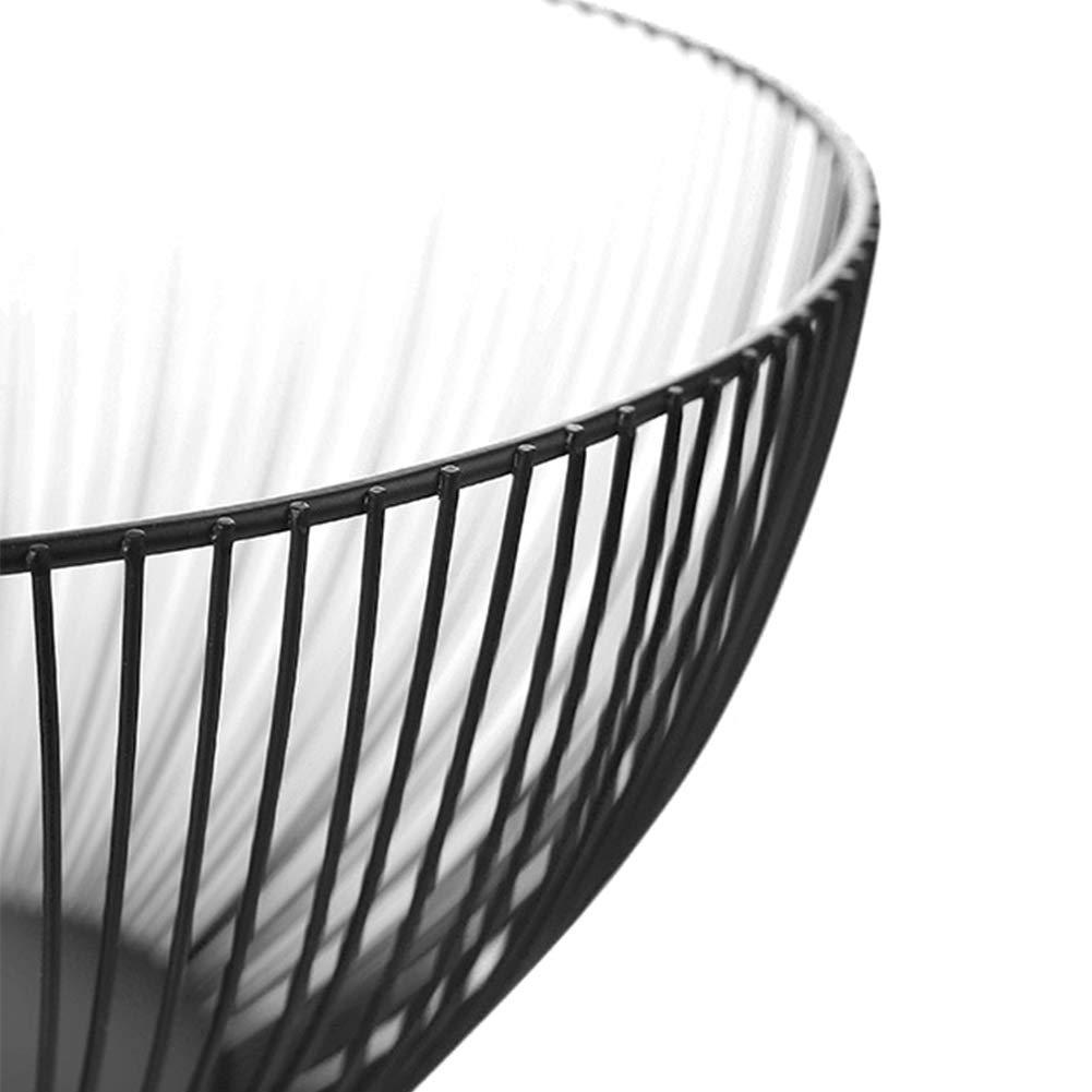Frutero estilo n/órdico de metal hueco grande cesta de frutas aperitivos de almacenamiento para el hogar decoraci/ón de dormitorio sala de estar negro comedor