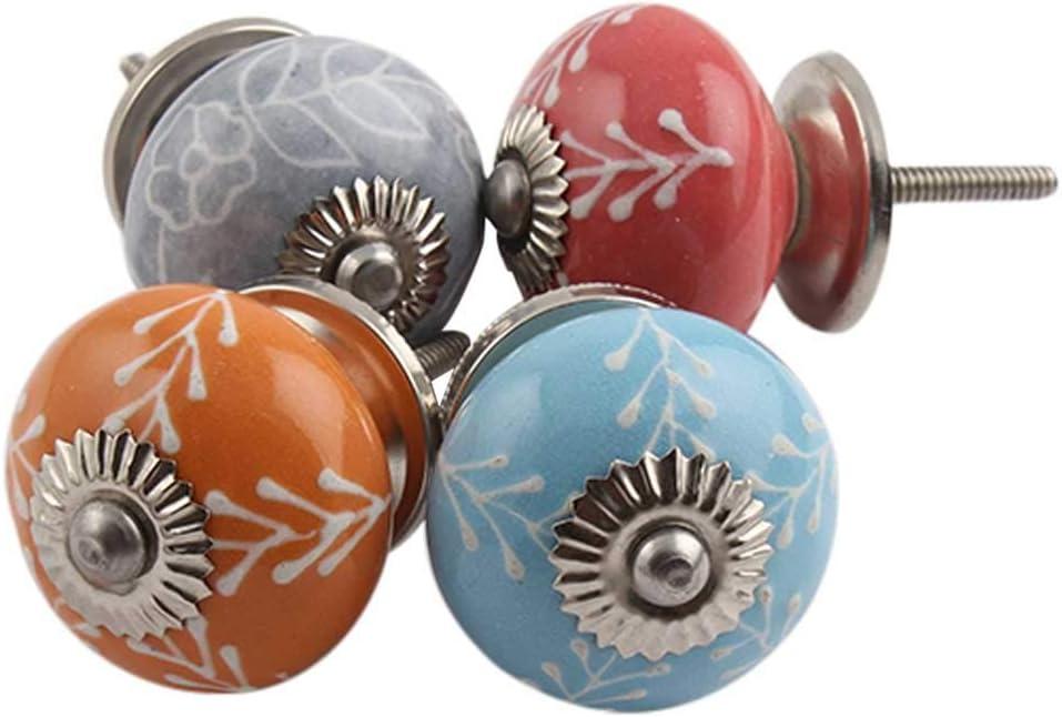 IndianShelf color marr/ón Juego de 12 pomos y tiradores de cer/ámica para armarios de ba/ño 12 unidades