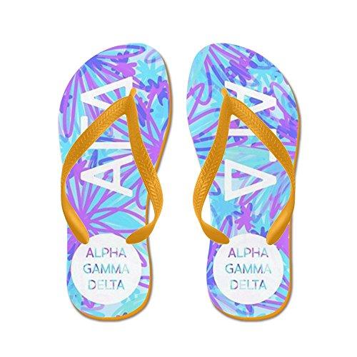 Cafepress Alpha Gamma Delta Tropisch Paars - Flip Flops, Grappige String Sandalen, Strand Sandalen Oranje