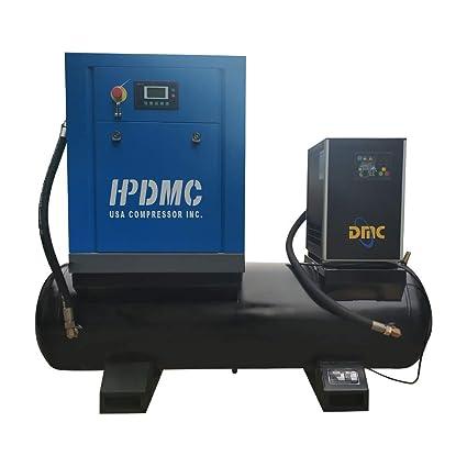 Air Dryer For Air Compressor >> Amazon Com Hpdmc 10hp Rotary Screw Air Compressor 39cfm 115psi