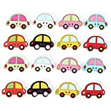 40pcs Wooden Car Shape Sewing Buttons DIY Craft Purse Baby Clothes ...