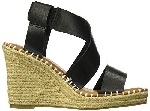 Espadrille Black Burnish Wedge Hopeful Women's Sandal Elastic Sugar 6I78n