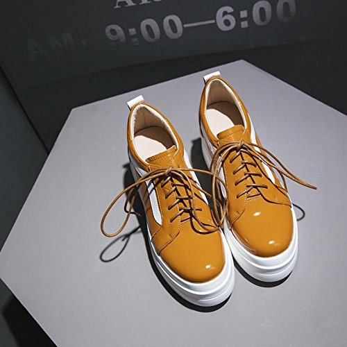 Parte WSXY A0424 Plataforma Yellow Lisa Mujeres Correa Sujeción Zapatos Superior De KJJDE con wqIXyzX4B