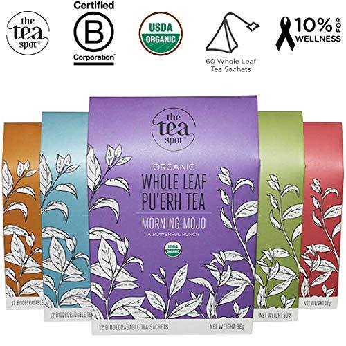 c Functional Botanical Tea Sampler | 60 Pyramid Tea Bags Count | 5 Variety Box: Turmeric Chai, Herbal Sleepy Tea, Citrus Green Tea, Vanilla Black, White Tea | Net Tea wt.: 5.1 oz ()