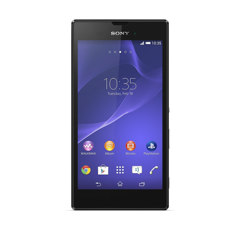 Sony Xperia T3 HSPA+ D5102 Unlocked GSM Android Smartphone - Retail Packaging - Black