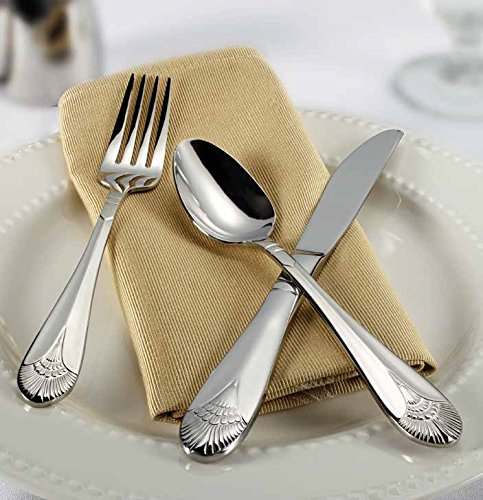 n Flatware Set, Extra Heavy 18-0 Stainless Steel Classic Old-Fashioned Dinner Spoons (Dozen Pack), Dinner Forks (Dozen Pack) and Dinner Knives (Dozen Pack), 36-Piece Set (Extra Heavy Dinner Knife)