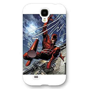 UniqueBox Customized Marvel Series Case for Samsung Galaxy S4, Marvel Comic Hero Daredevil Samsung Galaxy S4 Case, Only Fit for Samsung Galaxy S4 (White Frosted Case)