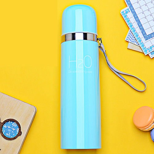 Blue Stainless Steel Travel Mug Water Bottle Bullet Cup Coffee Flask by Travel Mugs