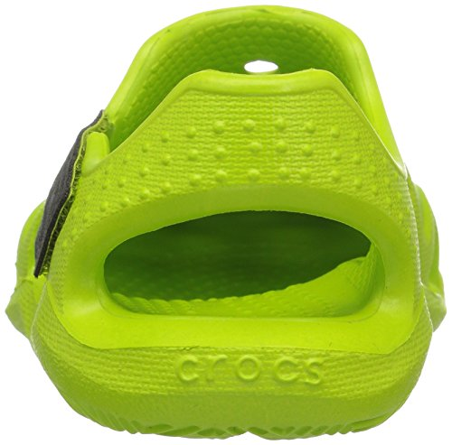crocs Jungen 204021 Mokassins Oxford Grün (Mint Pink Lemonade)