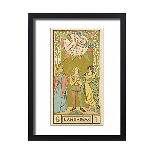 Framed 24x18 Print of Tarot Card 6 - L Amoureux (The Lover or Lovers) (573002) by Prints Prints Prints