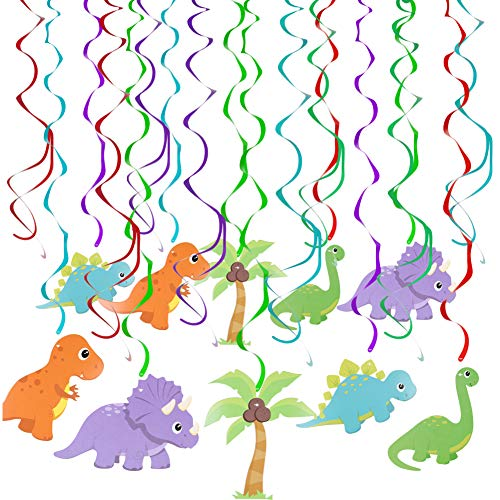 Onshine 30 Count Dinosaur Hanging Swirl Decorations