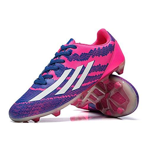 Xing Lin Chaussures De Football New GirlS Chaussures De Football Gazon Artificiel Broken Nails Usure Anti-Glissement Petite Cour Enfants Chaussures, 40 Code Standard 25Cm, Rose 857