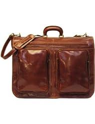 Floto Luggage Venezia Garment Bag Suitcase, Vecchio Brown, Large