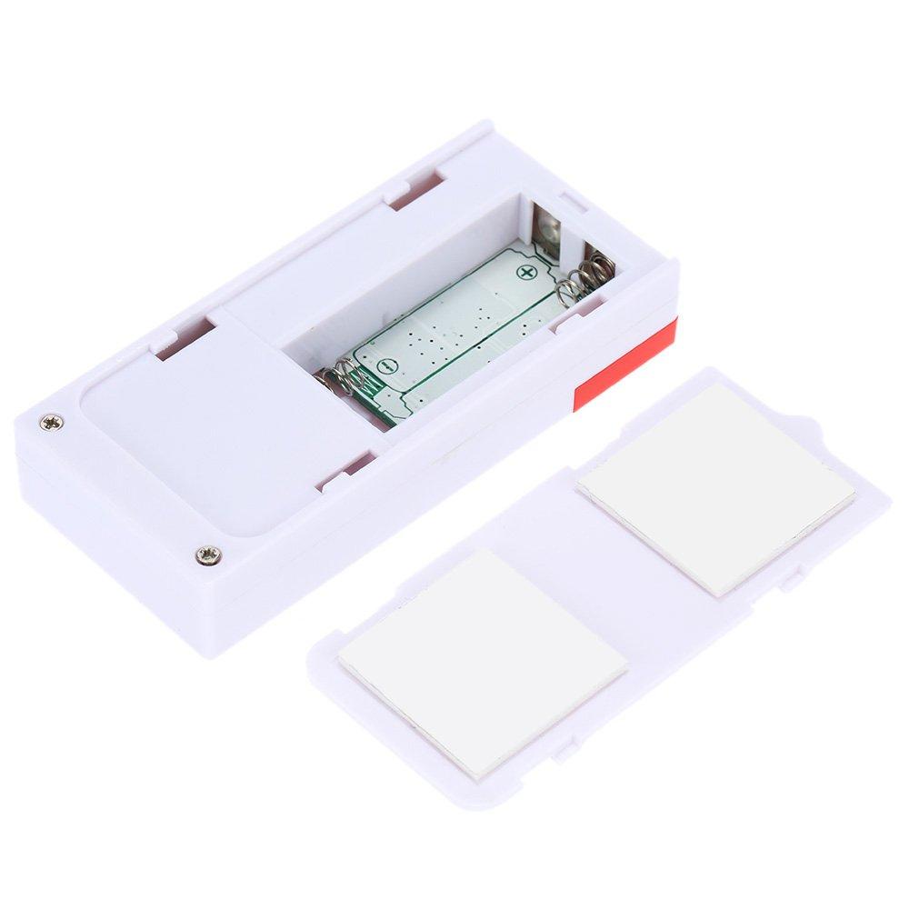 Incluye 2 Alarma y 1 Control Remoto Alarma Inal/ámbrica con 105db Sonido Fuerte y Luz Brillante F/ácil De Instalar Mengshen Alarma de Puertas y Ventanas