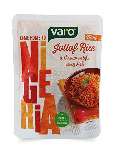 African Food - VARO Ready To Eat Jollof Rice (Mild Spicy). A Nigerian Style Spicy Dish - PACKS OF 6 (Original)
