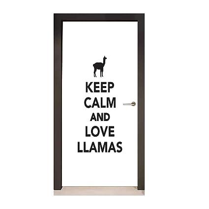 Amazoncom Homesonne Llama 3d Door Wallpaper Monochrome Pop