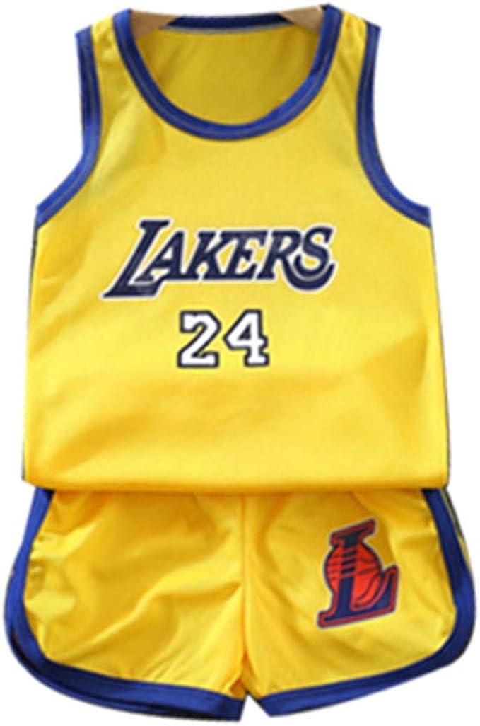 Boys Kobe Bryant 24 LA Lakers Kids Basketball Jersey Shorts Set ...