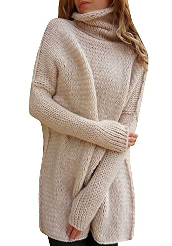 Inorin Womens Casual Loose Cowl Neck Knit Pullover Long Bat sleeve Sweater Jumper