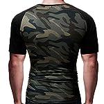 manadlian T-Shirt Hommes, Hommes T-Shirt Minimaliste Militaire Chemise à Manches Courtes Camouflage O-Neck 6