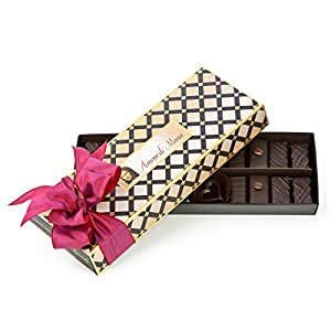 Connoisseur Collection: Amore di Mona Luxury Dark Chocolate and Caramela 9 oz Assortment. Vegan, Organic, All Natural, Non-GMO. Free of Gluten, Peanuts, Tree Nuts, or Other Common Allergens.