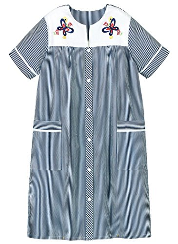 AmeriMark Embroidered Stripe Duster Robe -