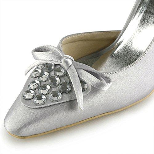 Kevin Fashion - Zapatos de boda fashion mujer plata