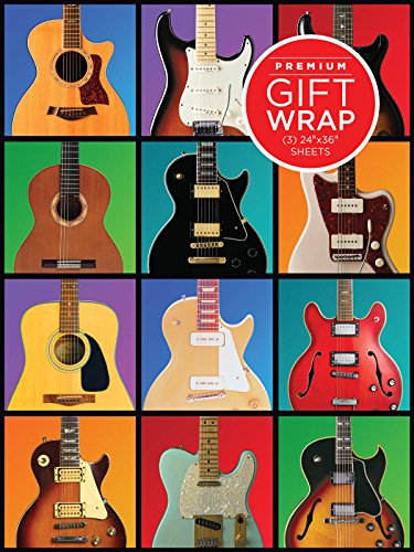 Hal Leonard Retro Guitar Gift Wrapping Paper