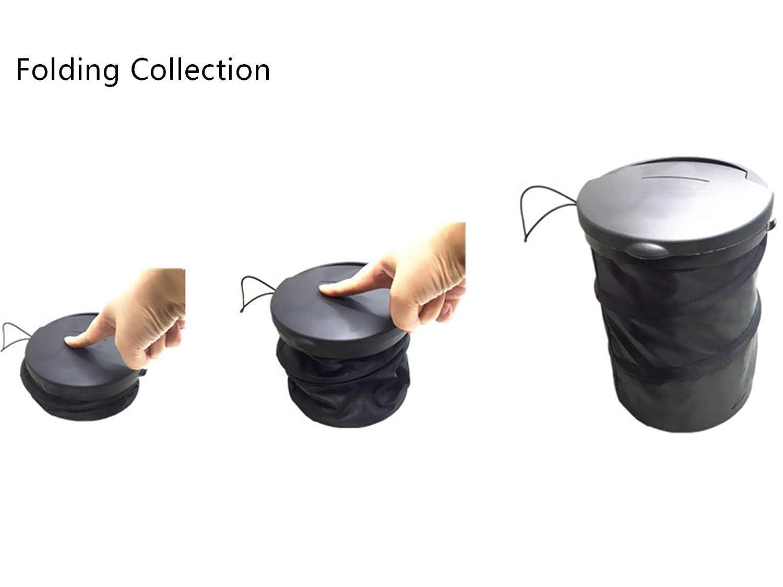 Plegable Basurero Colgando Bolsa de Almacenamiento de Viaje Bolsa Ruesious 4L Port/átil Plegable de Basura del Coche Cubo
