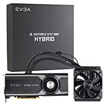 """EVGA GeForce GTX 980 4GB HYBRID GAMING, """"All in One"""" No Hassle Water Cooling, Just Plug and Play Graphics Card 04G-P4-1989-KR"""