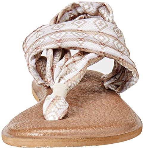 Sanuk Frauen Yoga Sling 2 Flip Flop Natürlich / Multi Tribal Streifen