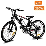 Hurbo 250W/350W Electric Bike Aluminum Alloy Frame 36V Large Capacity Powerful Lithium-Ion Battery [US Stock] (Black(250W Unfoldable))