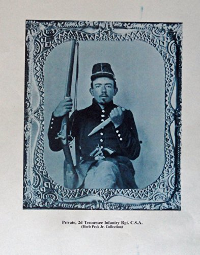 Civil War, Private, 2d tennessee Infantry Rgt. C.S.A., Rare Tintype, print art (an Irish unit from Memphis / colt navy revolver, bowie knife, 1841 mississippi rifle) Oringial Vintage 1971 Civil War Times Illustrated Magazine Art