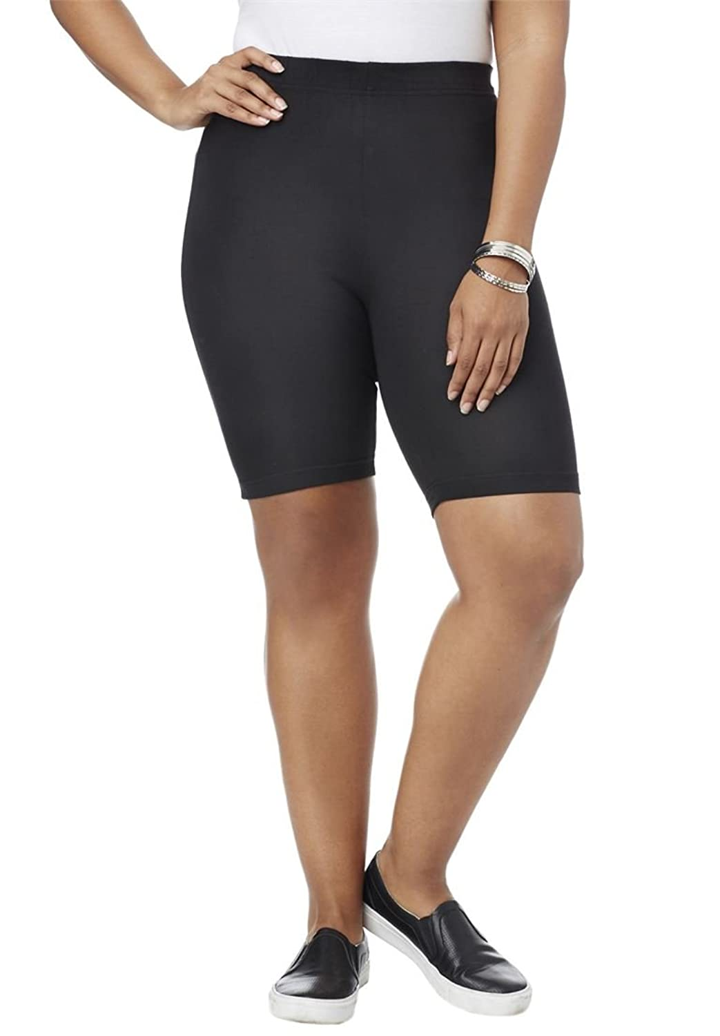 Roamans Women's Plus Size Pull On Bike Shorts