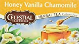 Celestial Seasonings Herbal Tea Honey Vanilla Chamomile, Honey Vanilla Chamomile 20 bags (Pack of 2)