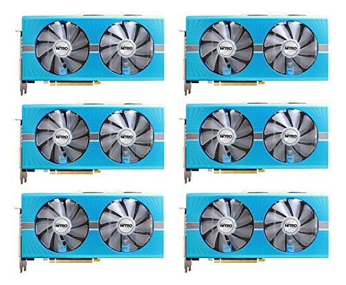 6 packs of Sapphire Radeon NITRO+ RX 580 8GB GDDR5 DUAL HDMI / DVI-D / DUAL DP w/ backplate SPECIAL EDITION (UEFI) PCI-E Graphic Cards 11265-21-20G Video Card Overclocked Edition