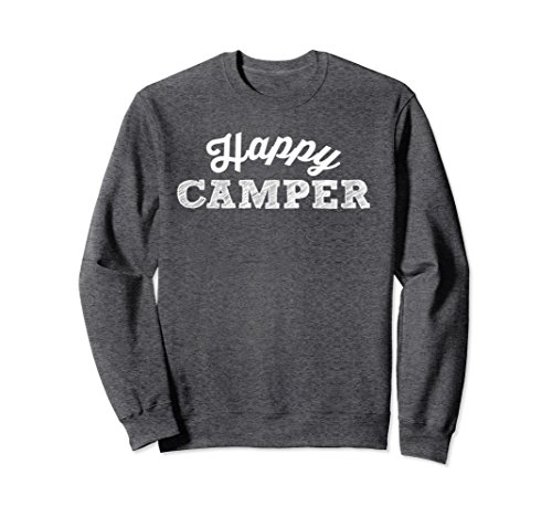 Unisex Happy camper T shirt camping sweatshirt Family Summer fun XL: Dark (Happy Shirts T-shirt Sweatshirt)