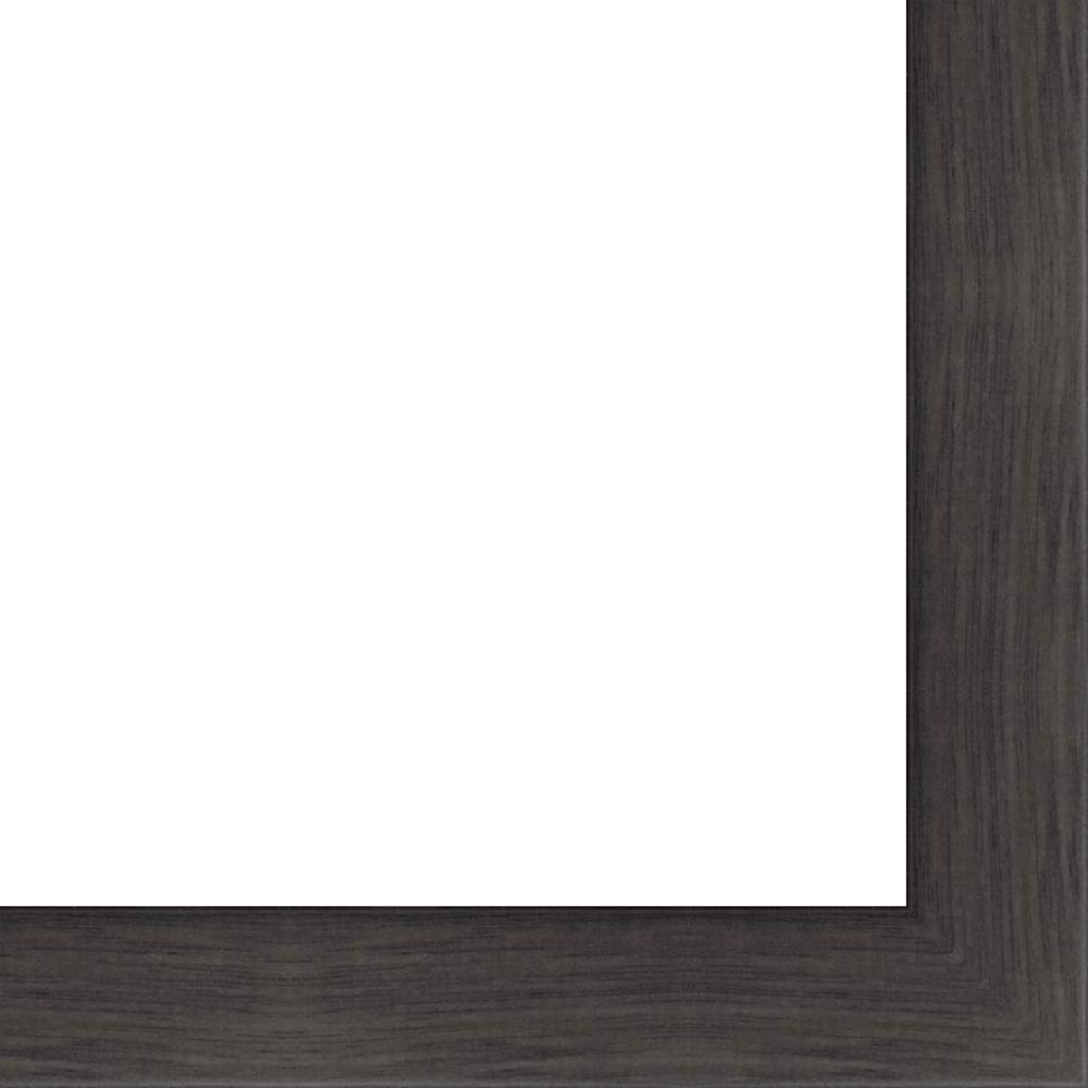 12x40 - 12 x 40 Charcoal Flat Solid Wood Frame with UV Framer's Acrylic & Foam Board Backing - Great For a Photo, Poster, Painting, Document, or Mirror