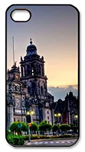iphone 4 make cases Mexico_City_Cathedral 2 PC Black for Apple iPhone 4/4S